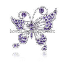 Wholesale China Rhinestone Jewelry fashion women accessories butterfly rhinestone brooch