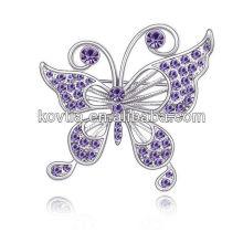 Atacado China Rhinestone Jóias moda feminina acessórios borboleta strass broche