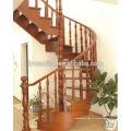 Barandilla barandilla de roble rojo para escalera mecánica.