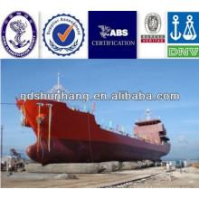 Chine fournisseur airbag pneumatique 1.2Mx18M utilisé pour les navires pétroliers de lancement