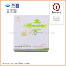Cajas de paquete de regalo de té de fantasía con Luminancia UV y estampación de láminas