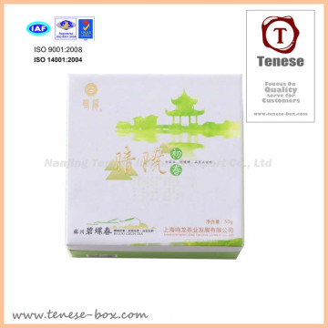 Fancy Tea Gift Package Boxes with UV Luminance and Foil Stamping