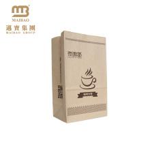 Produto comestível personalizado Brown remova o saco de papel de embalagem do ofício com seu próprio logotipo para o empacotamento de alimento