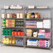 Chrome Supermarket Metal Rack Shelf, Grocery Store Shelving