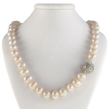White Baroque Pearl Choker Necklace