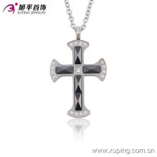 42859 Xuping bijoux collier en acier inoxydable croix, nouvelle conception photos croix chaîne pendentif pour hommes
