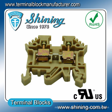 TF-4 Euro Type 600V 35A Screw Clamp 4mm Din Terminal Block