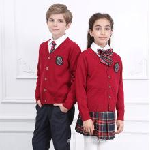 Factory Plaid Mini Skirt and Sweater School Uniform