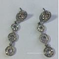 Long Style Metal Earrings with Gems