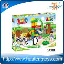 Los mejores creativos creativos diy animales zoológico bloques ladrillos juguetes