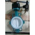 PTFE Teflon ausgekleidet Wafer Drosselklappe mit Ce ISO Wras zugelassen