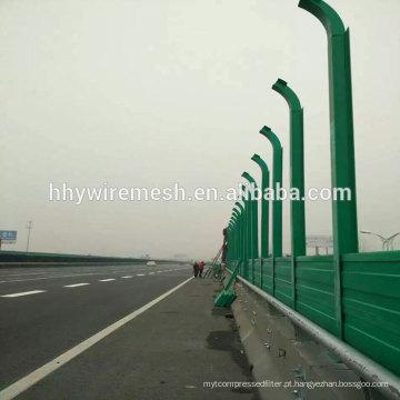 parede de barreira de som de metal China barreira de ruído de estrada de estilo moderno de alta qualidade