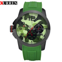 Military Sport Casual Rubber Band Men Watches