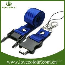 Custom free sample promotional lanyard for usb/key