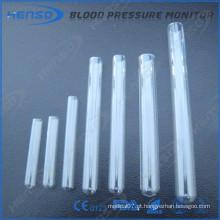 Tubos de ensaio de vidro Henso em fundo redondo e boca lisa