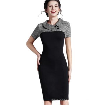 One-Piece Dress Short Working Office Bodycon Dress