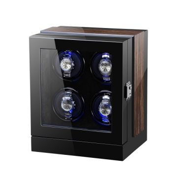 Automatic Watch Winder 4 slots Display mecânico para 4 relógios