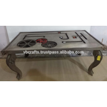 steam punk gear dining table metal plated
