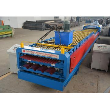 Bahan Bangunan Double Decker Roof roll Forming Machine