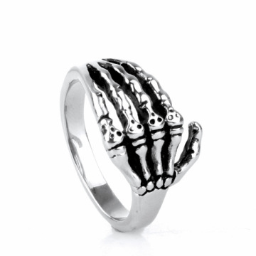 Fashion calm atmosphere Hand bone Tail ring