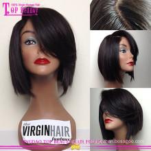 Preço do fator 100% peruca dianteira do laço de seda cabelo humano top