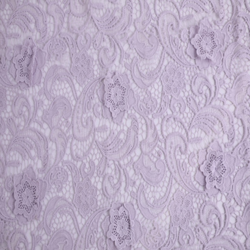 Elegancka Mily Yarn 3D Flower Lace Fabric