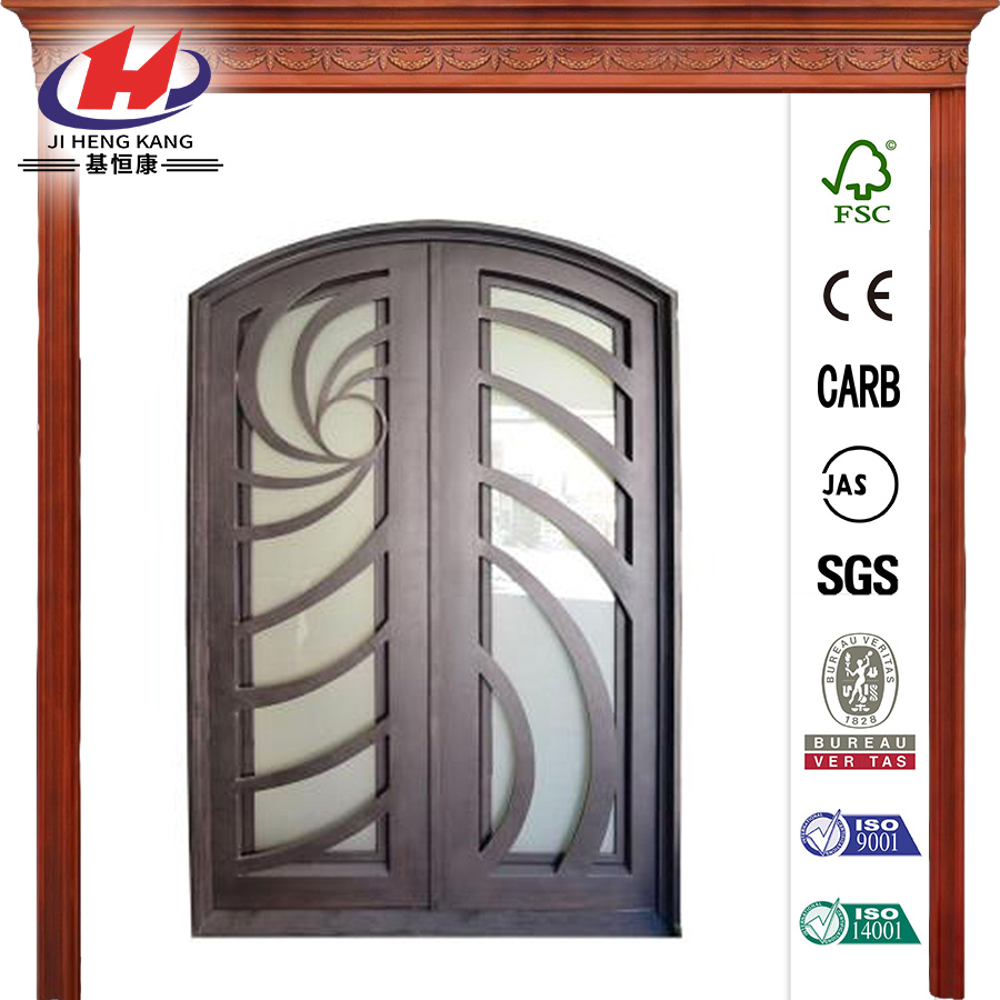 Contemporary Full Lite Dark Bronze Prehung Front Door