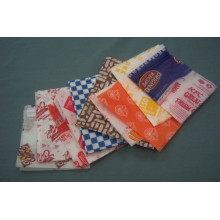 Fettabweisendes Papier Fast Food Papiertüte Einweg-Food Brot Pizze Hamburger Container