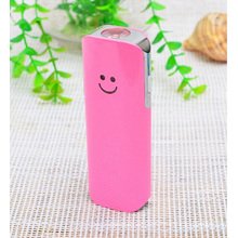 Smile Face Power Bank Portable for All Smart Phone with LED Torch