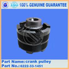 Polia do ventilador Komatsu D65 6151-61-3320 V correia 04121-22269