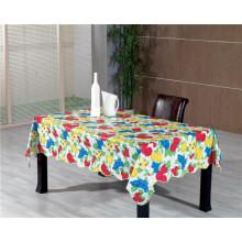 Toalha de mesa não tecida do PVC do revestimento protetor com vegetal e projeto da fruta