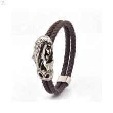 Großhandelsart- und weiseschädel Pu-lederne Armband-Frauen