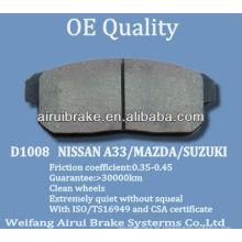 D1008 NISSAN MAZDA SUZUKI pad de freio