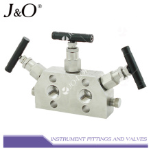 Stainless Steel Instrument Natural Gas 3way Valve Manifold