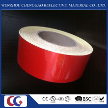 Solid Red Advertising Grade Reflective Material Tape in China Factory