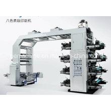 Machine d'impression flexographique haute vitesse 8 couleurs (CE)