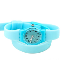 New Design Children Long Silicone Band Plastic Watch
