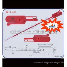 sello pull-tite BG-S-001, etiqueta de sello, sello de hilo de plástico, proveedor de fabricantes de sellos de seguridad en China, BagLock, RibLock