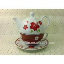 Juego de té popular de la porcelana para una sola persona para BS13122C