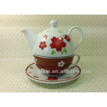 Popular Porcelain One Person Tea Set for BS13122C