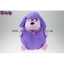Fabrik Direktverkauf Lila Plüsch Schaf Puppe Spielzeug Rucksack mit Big Mund Bos1217