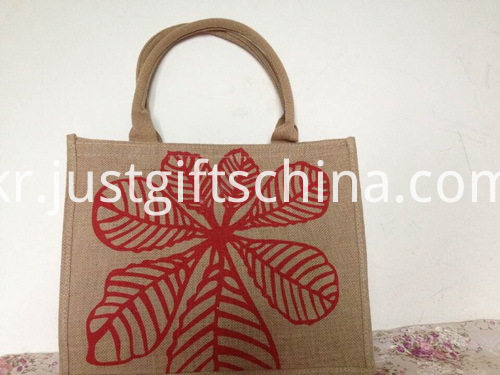 Promotional Logo Printed Jute Tote Bag (3)