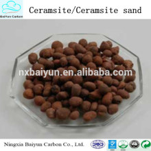 Matériau d'eau de purification bon marché ceramsite / sable de céramite