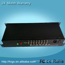 16 ports rj45 à multiplexeur optique de fibre de convertisseur vidéo bnc