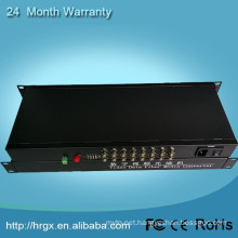 16 ports rj45 to bnc video converter fiber optical multiplexer