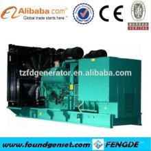 16 cilindros V tipo TBG serie 1500KW generador de turbina de gas para la venta