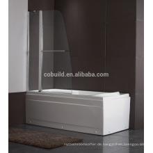 K-539 moderne einfache 304 Edelstahl Badewanne Dusche Bildschirm mit CE-Zertifikat