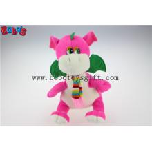 """China Hersteller Pink Gefüllte Dinosaurier Tier Spielzeug mit Schal in 10 """"Sizebos1199"""