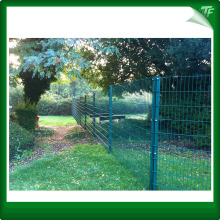 Triple tier wire mesh perimeter fencing panels