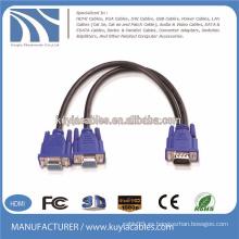 VGA de 15 pines 1 a 2 cable del divisor diagrama de cableado vga cable